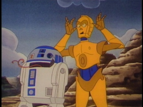 R2-D2 and C-3PO star in the 1985 animated series, Star Wars Droids.